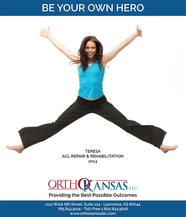 Be Your Own Hero Marketing Ad for OrthoKansas