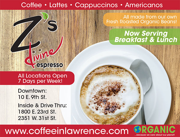 Z's Devine Espresso Ad for Theatre Lawrence