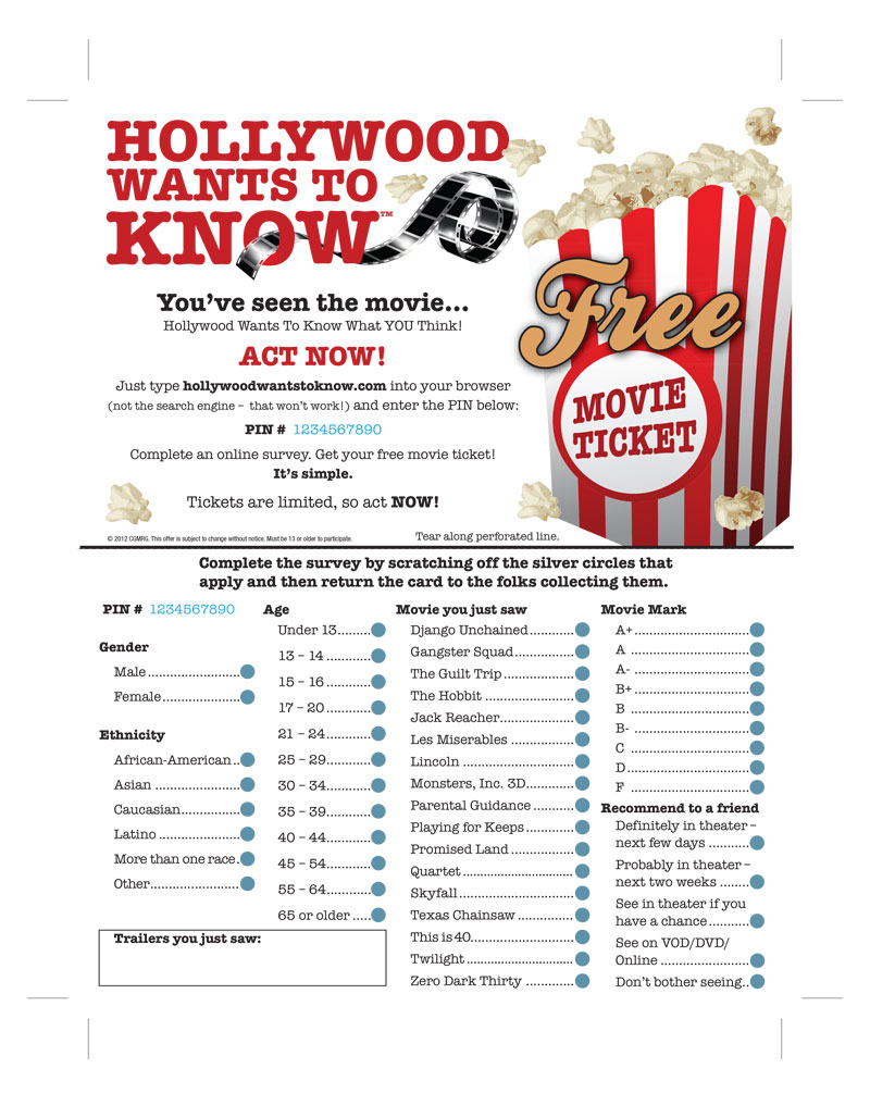 AMP Movie Marks Survey