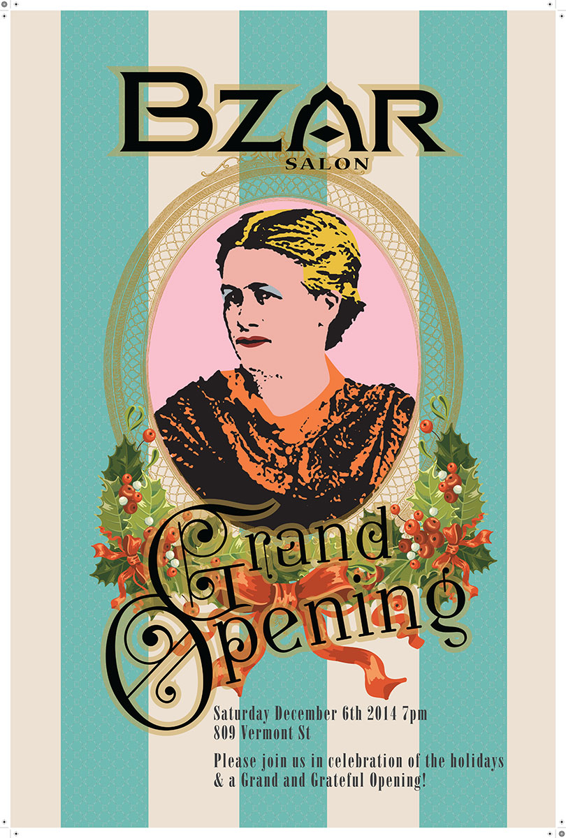Bzar Salon Grand Opening Poster