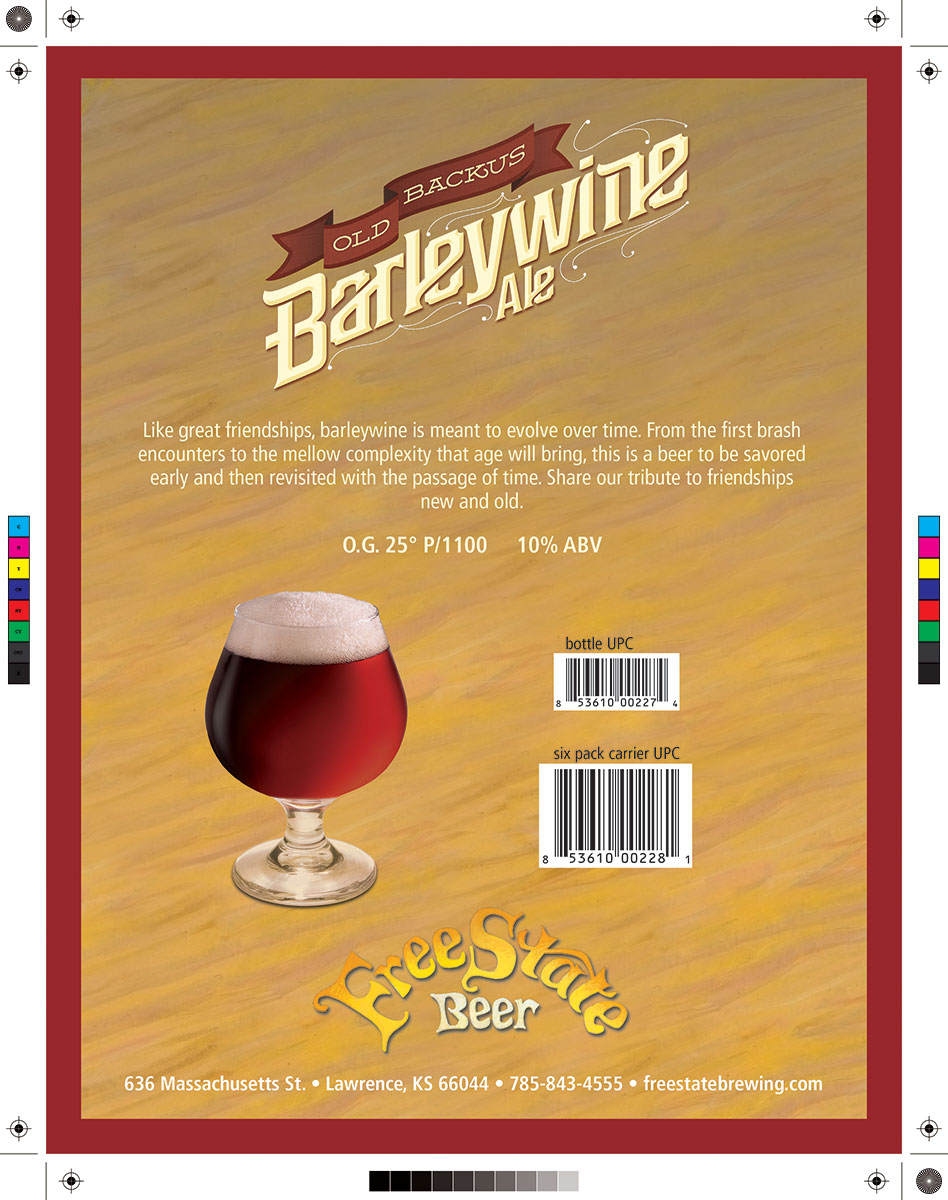 Free State Beer Barley Wine Marketing Sell Sheet