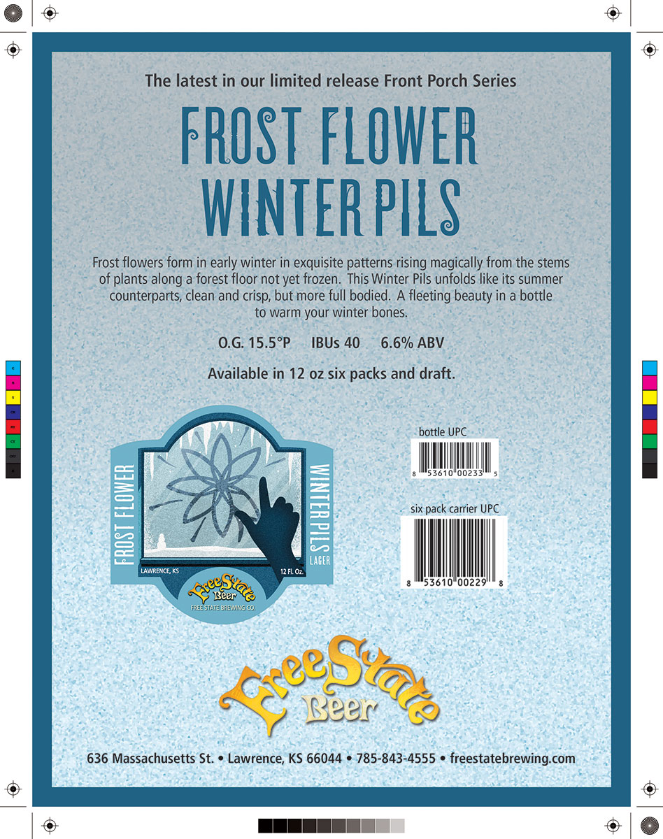 Free State Beer Frost Flower Marketing Sell Sheet