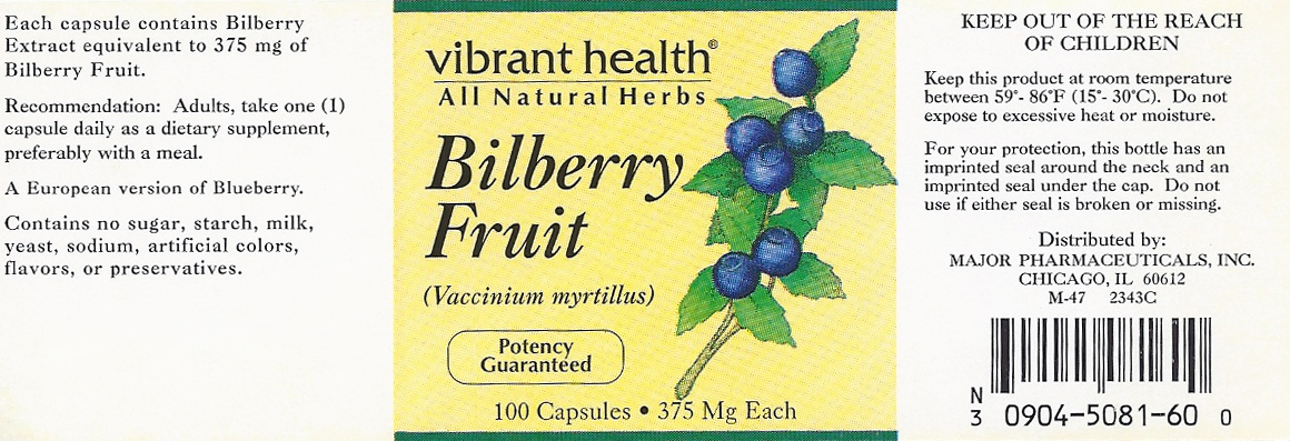 Major Pharmaceuticals Vibrant Health Label