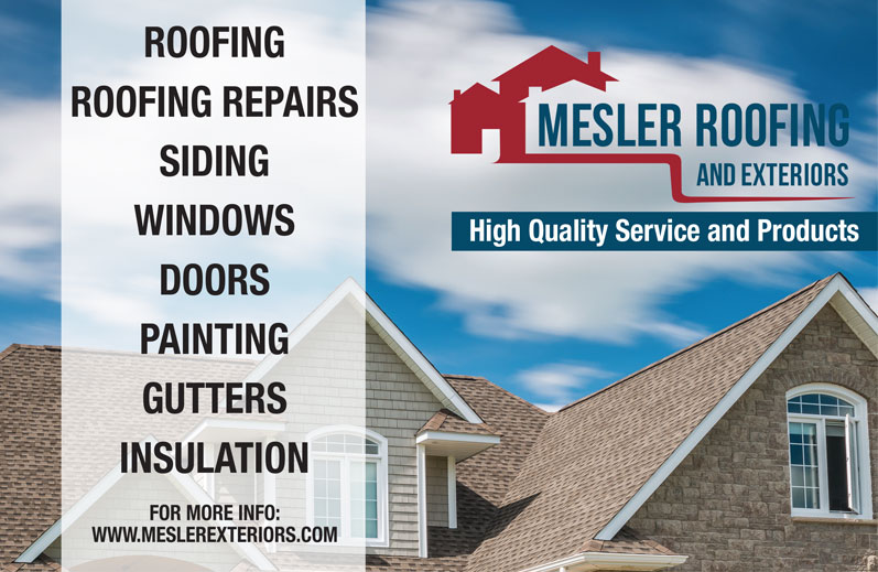 Mesler Roofing & Exteriors Ad for Lawrence Magazine