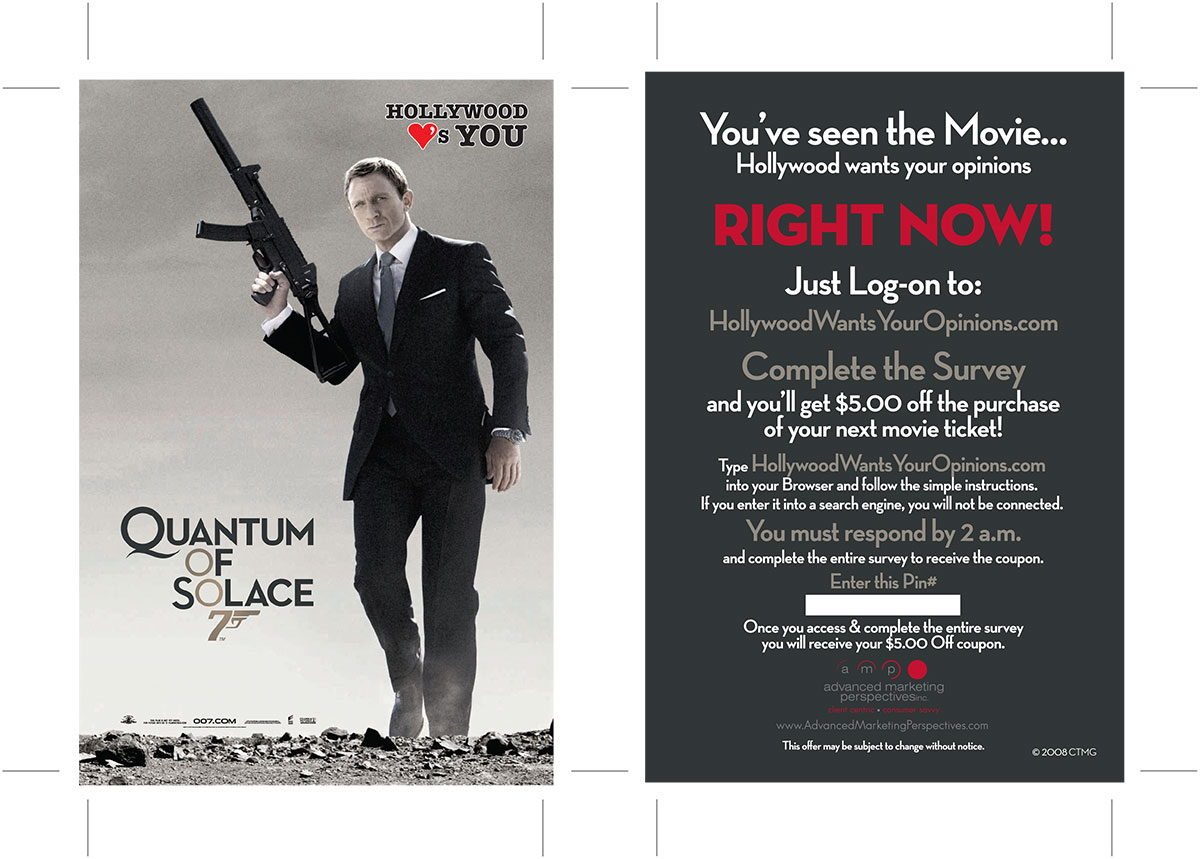 Quantum of Solace Card