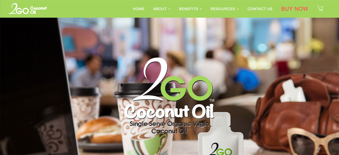 2Go Coconut Oil Website