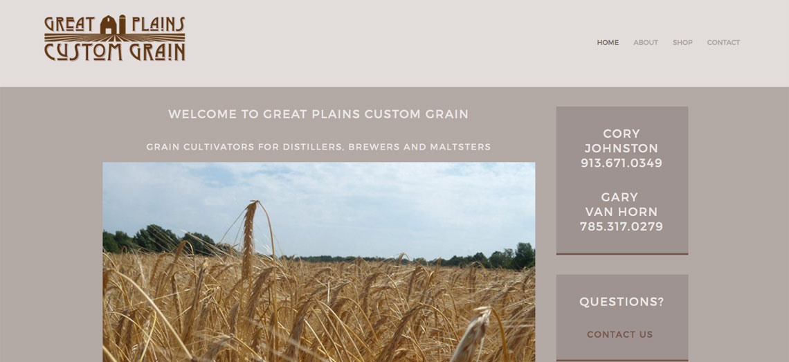 Great Plains Custom Grain Screen Shot