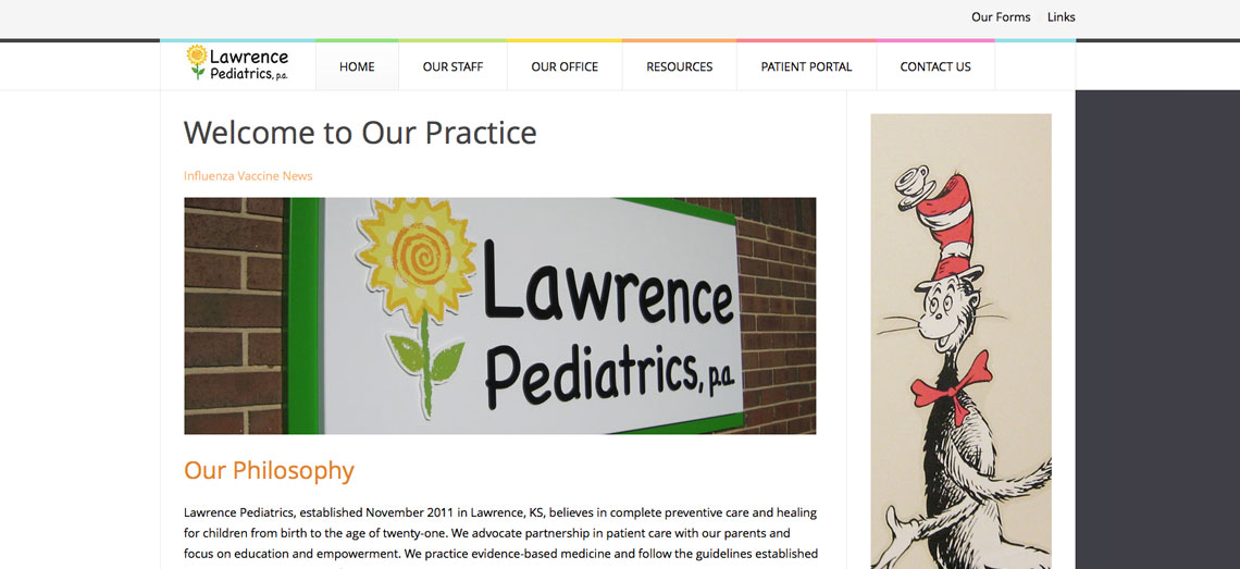 Lawrence Pediatrics Screen Shot