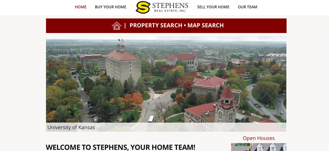 Stephens Real Estate Screen Grab