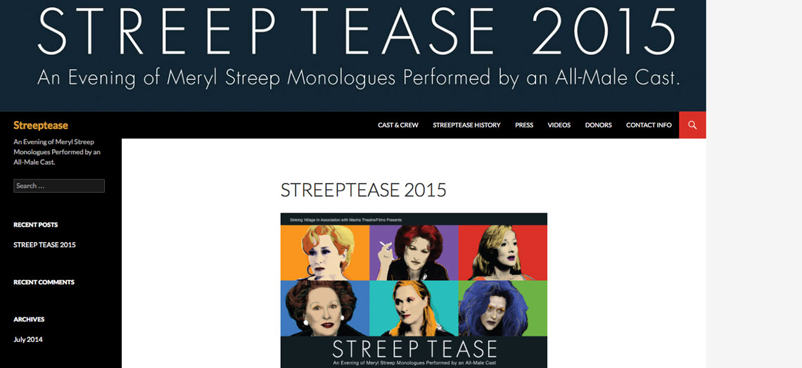 Streep Tease Screen Shot