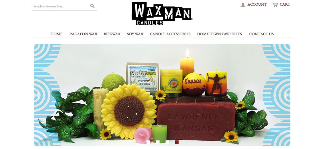 Waxman Candles Screen Grab